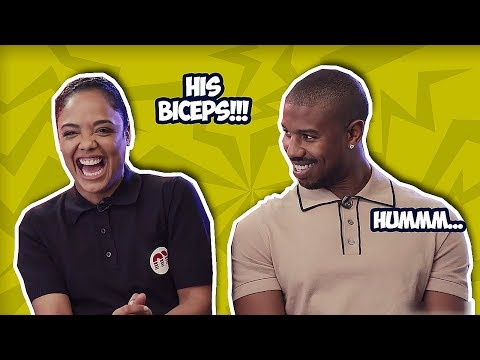 Michael B. Jordan Can't Keep His Eyes Off Tessa Thompson - Creed 2