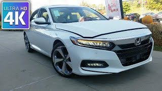 2018 HONDA ACCORD TOURING - 4K IN DEPTH WALKAROUND STARTUP EXTERIOR INTERIOR & TECH
