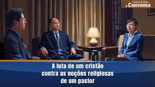 """Filme evangélico """"A conversa"""" Trecho 5 – A maravilhosa refutação de um cristão sobre os conceitos de um pastor da igreja das três autonomias"""