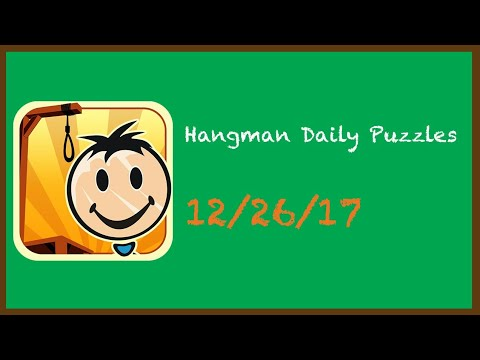 Hangman Daily Challenge 12/26/17  Still Using Christmas Music After Christmas