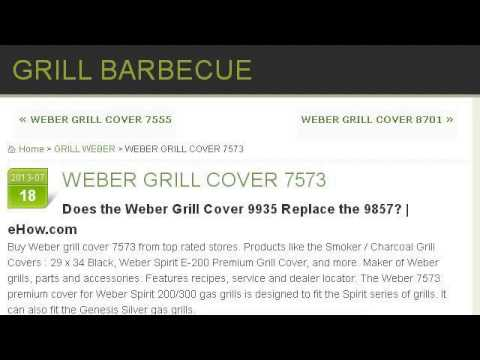 does the weber grill cover replace the