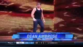 Dean Ambrose Vs. Tyler Breeze - WWE SmackDown - 07/04/2016