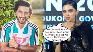Deepika Padukone Gets ANGRY On Media For Asking Whether Chhapaak Was Produced by Ranveer Singh?