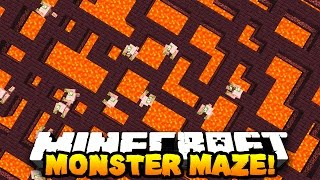 Minecraft MONSTER MAZE (RUN FROM HOSTILE MOBS!) | w/ PrestonPlayz & LandonMC