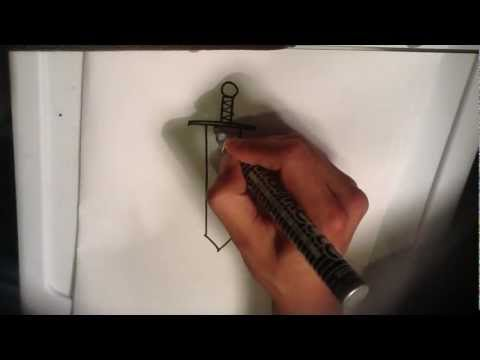 How to Draw a Sword - Easy Things to Draw
