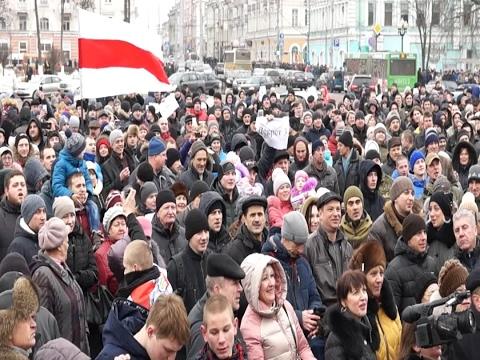Марш протеста против Декрета о тунеядцах в Гомеле