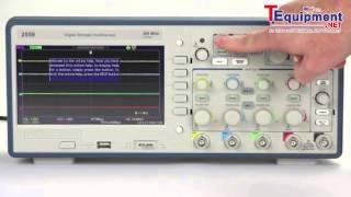 b precision 2550 series digital storage oscilloscopes