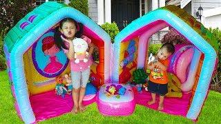Van Pretend Play with Giant Indoor Inflatable Playhouse Kids Toy, BaBiBum