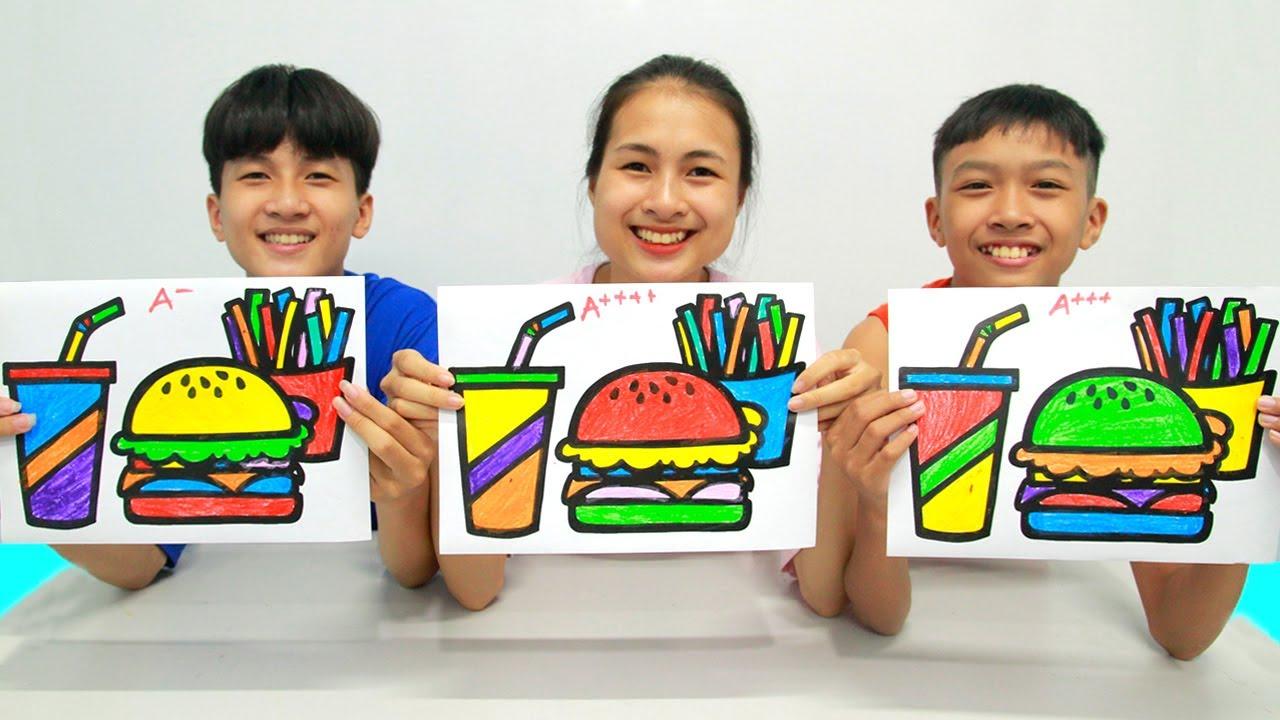 Glitter Fast Food, Warna Warni Belajar Menggambar dan Mewarnai untuk Anak
