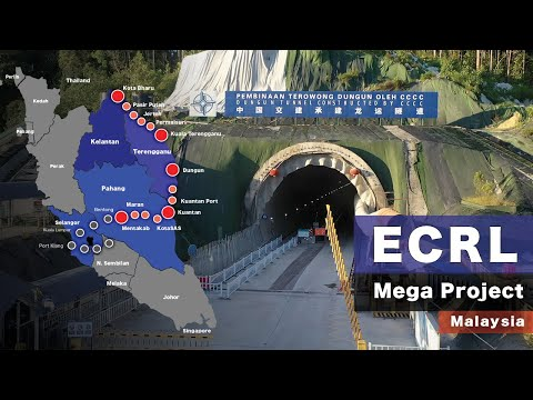 ECRL Mega Project Malaysia - East Coast Rail Link Project 2021 [4K60P]