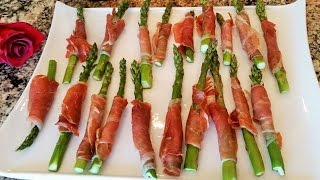 Roasted Asparagus Wrapped In Prosciutto Easy Appetizer Recipe Idea By Mommy Is A Chef Episode 73