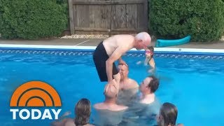 Watch This 79-Year-Old Grandpa Do A Backflip Into Swimming Pool | TODAY