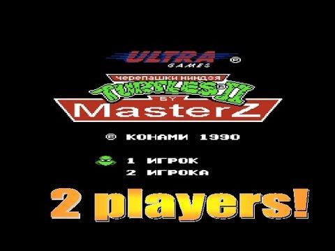 TMNT 2: The Arcade Game (2 players) [Famicom, NES, Dendy] - Walkthrough; Черепашки Ниндзя 2 на двоих