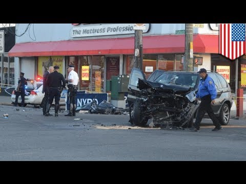 Decapitation crash in Brooklyn kills two in Nissan vs BMW accident
