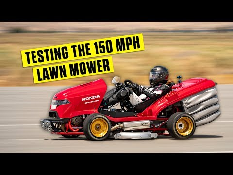 The Fastest Lawn Mower In The World