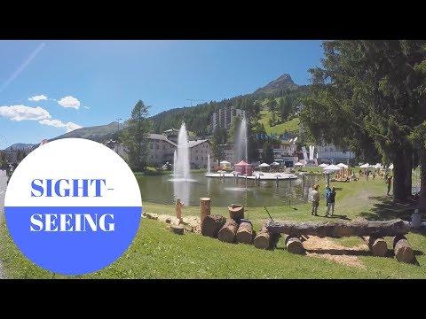 Sightseeing in Davos in SWITZERLAND