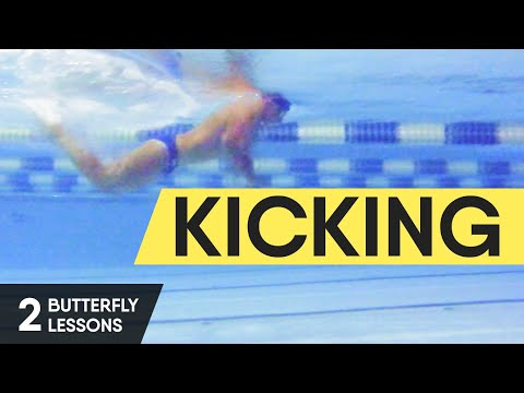 HOW TO SWIM BUTTERFLY FAST AND EASILY? BUTTERFLY KICKS. BUTTERFLY LESSON 2 @ Swimmate