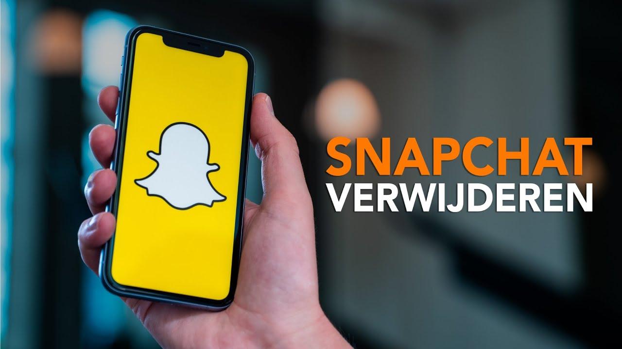 Je Snapchat-account en Snapchat verwijderen doe je zo