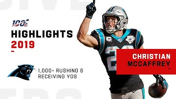 Christian McCaffrey Joins 1K-1K Club | NFL 2019 Highlights