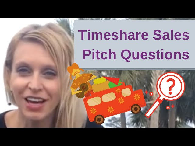 Questions they ask at a Timeshare Sales Pitch