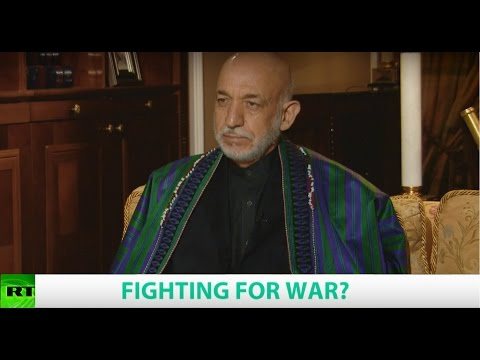FIGHTING FOR WAR? Ft. Hamid Karzai, Former President of Afghanistan