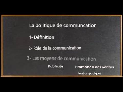 La Politique De Communication  (darija)