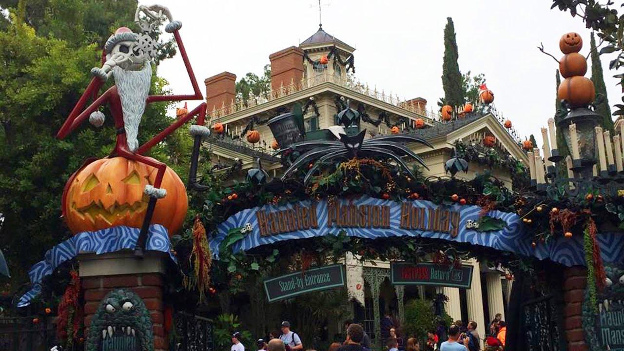 Haunted Mansion Holiday Nightmare Before Christmas POV Disneyland ...