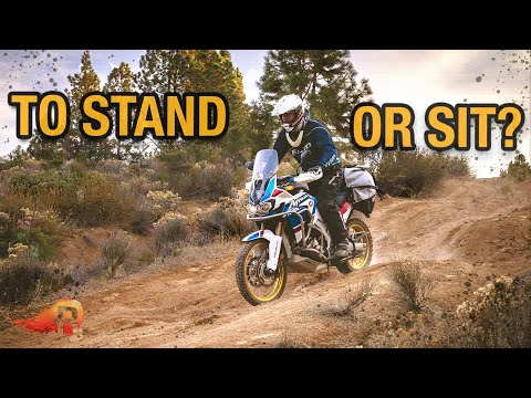 WHEN & WHY you should STAND while riding an ADV Motorcycle | OFFROAD Motorcycle Training