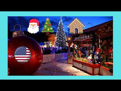 The beautiful CHRISTMAS VILLAGE in SAN JOSE, California (USA ...