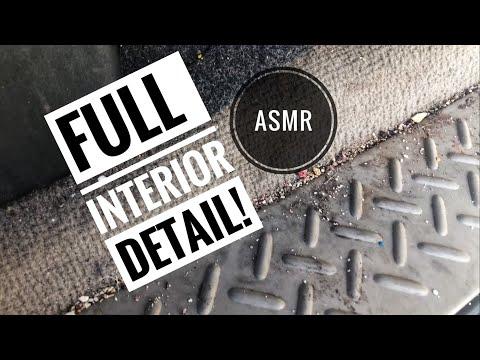 Full interior detail on trashed truck! ASMR