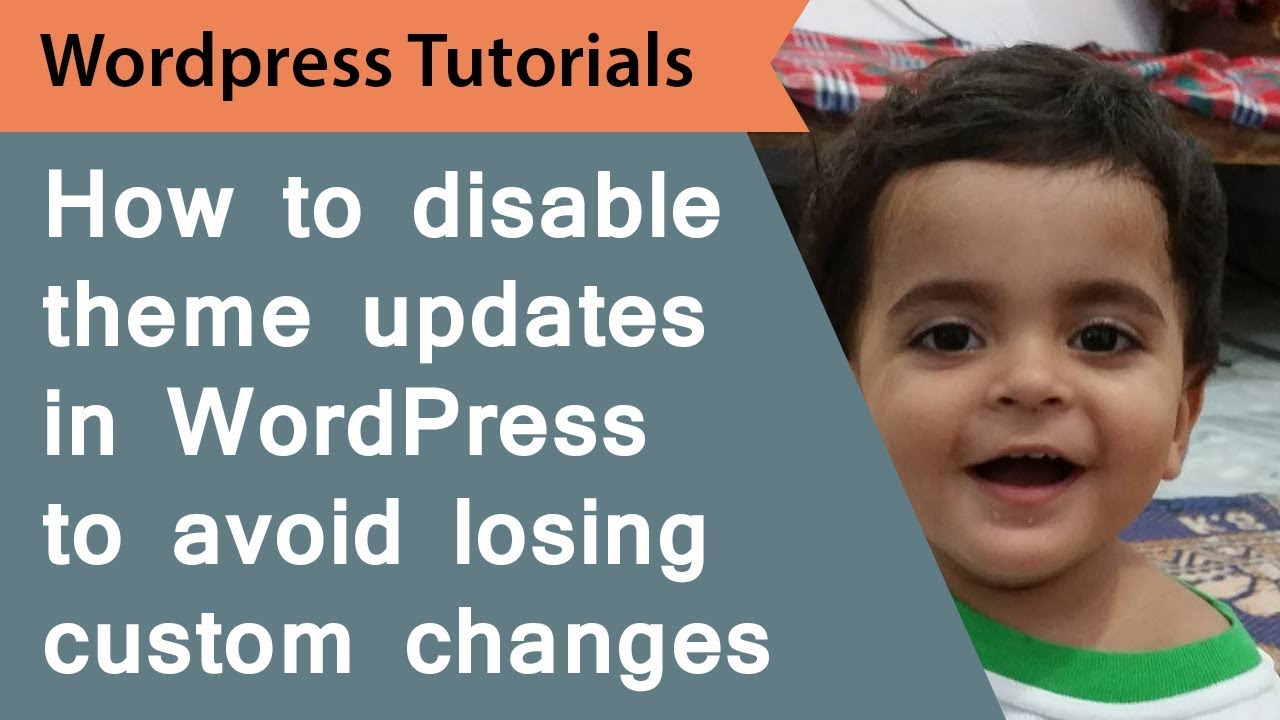 How to disable theme updates in WordPress to avoid loosing custom changes