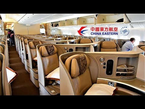 China Eastern Business Class 777 Chicago O'Hare to Shanghai Pudong