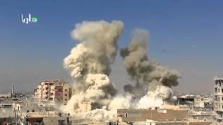 Сирия  Авиаудар по позициям боевиков в Дарайе 05 10 2015   720x540