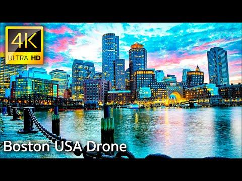 Boston USA in 4K UHD Drone