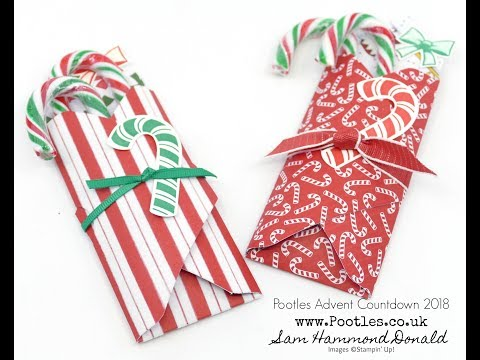 Pootles Advent Countdown 2018 #12 Candy Cane Envelope Punch Board Pouch - วันที่ 02 Nov 2018