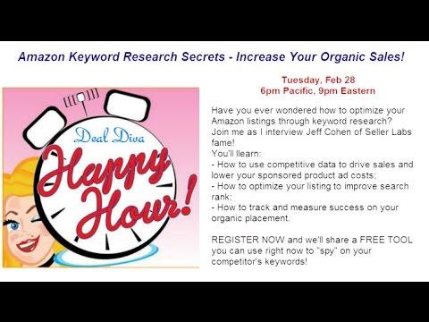 Amazon Keyword Research Secrets with Jeff Cohen