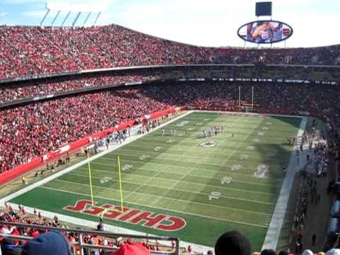 Can you spot Santa at the Chiefs game? (He has the beard & hat)