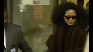 Diana Ross visiting Michael Jackson in the hospital 1995 High Definition