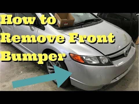 Honda Civic Front Bumper Removal How to Remove Replace Install 2006 2007 2008 2009 2010 2011