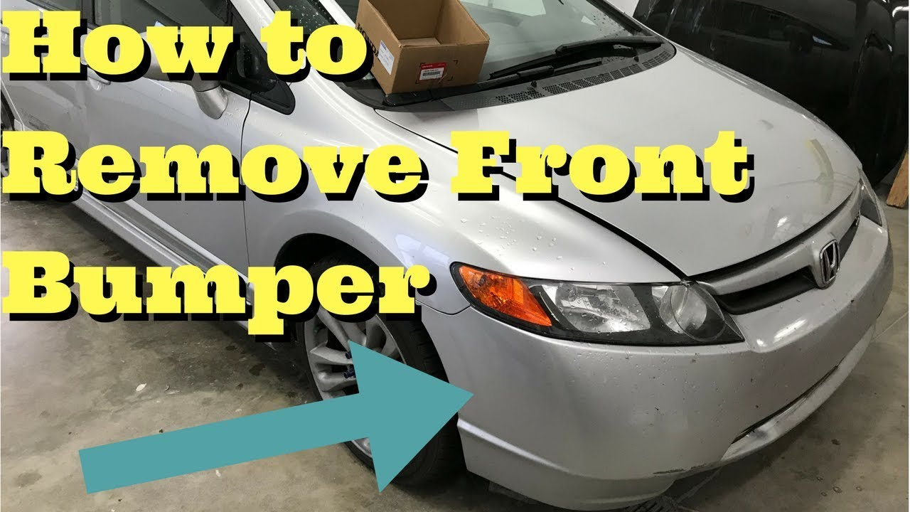 hight resolution of honda civic front bumper removal how to remove replace install 2006 2007 2008 2009 2010 2011