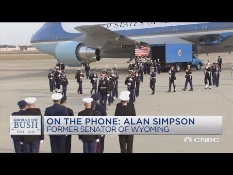 Former Senator Alan Simpson reminisces about President George H.W. Bush