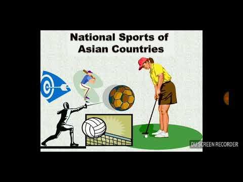 National Sports (De Jure) of Asian Countries