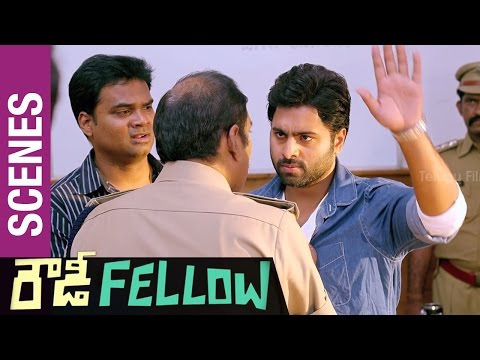 Nara Rohit clashes with Ahuti Prasad | Rowdy Fellow Telugu Movie Scenes | Vishakha Singh