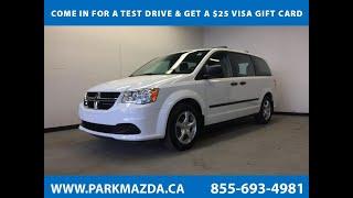 WHITE 2014 Dodge Grand Caravan  Review Sherwood Park Alberta - Park Mazda