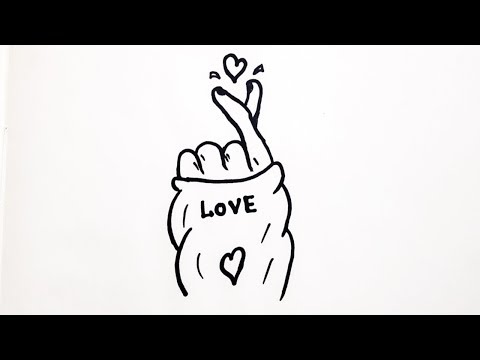 HOW TO DRAW TUMBLR KOREAN HEART - YouTube