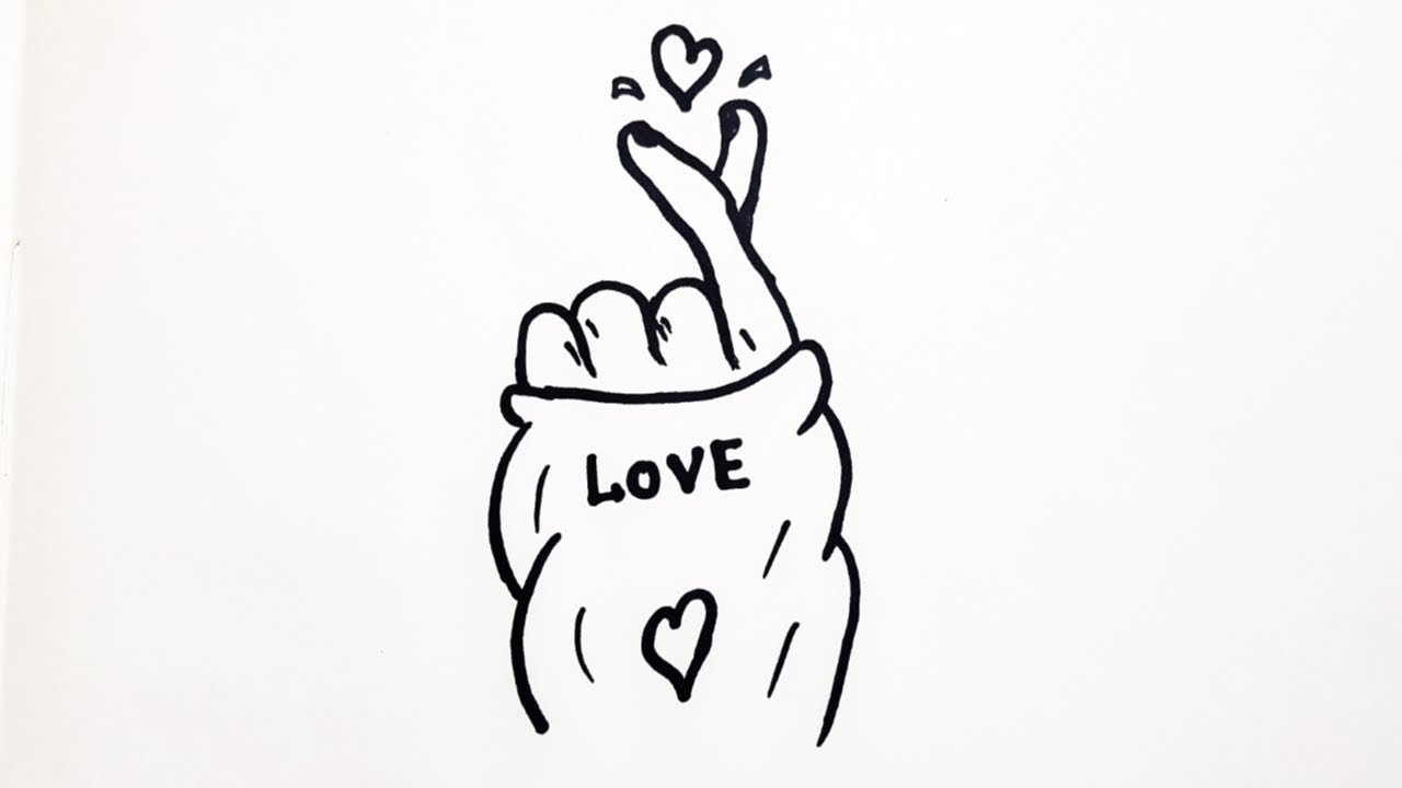 HOW TO DRAW TUMBLR KOREAN HEART