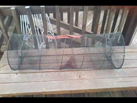 Catfish trapping with net traps doovi for Diy fish trap