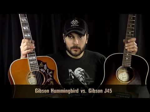 Gibson J45 vs Gibson Hummingbird: What's the Best Acoustic Guitar?