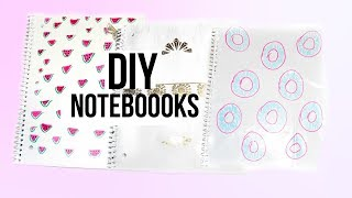 DIY Cute and Colorful Notebooks 📝 DIY Watermelon Notebook!  DIY Donut Notebook! & more!