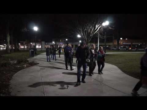 Pot-banging protesters in Roslindale